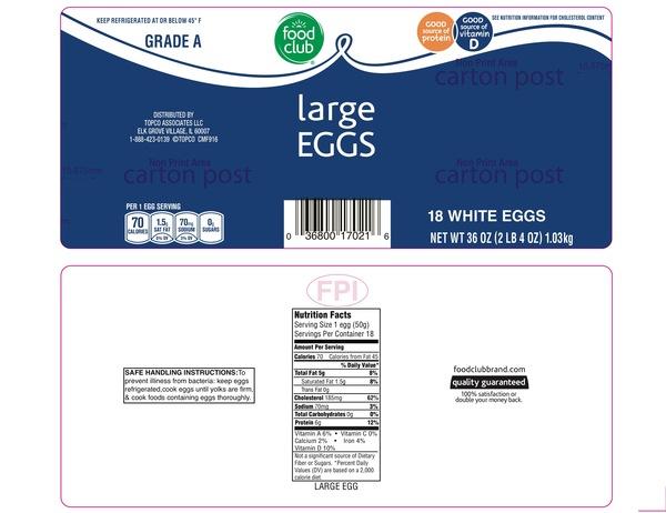 Smartlabel Grade A Large White Eggs