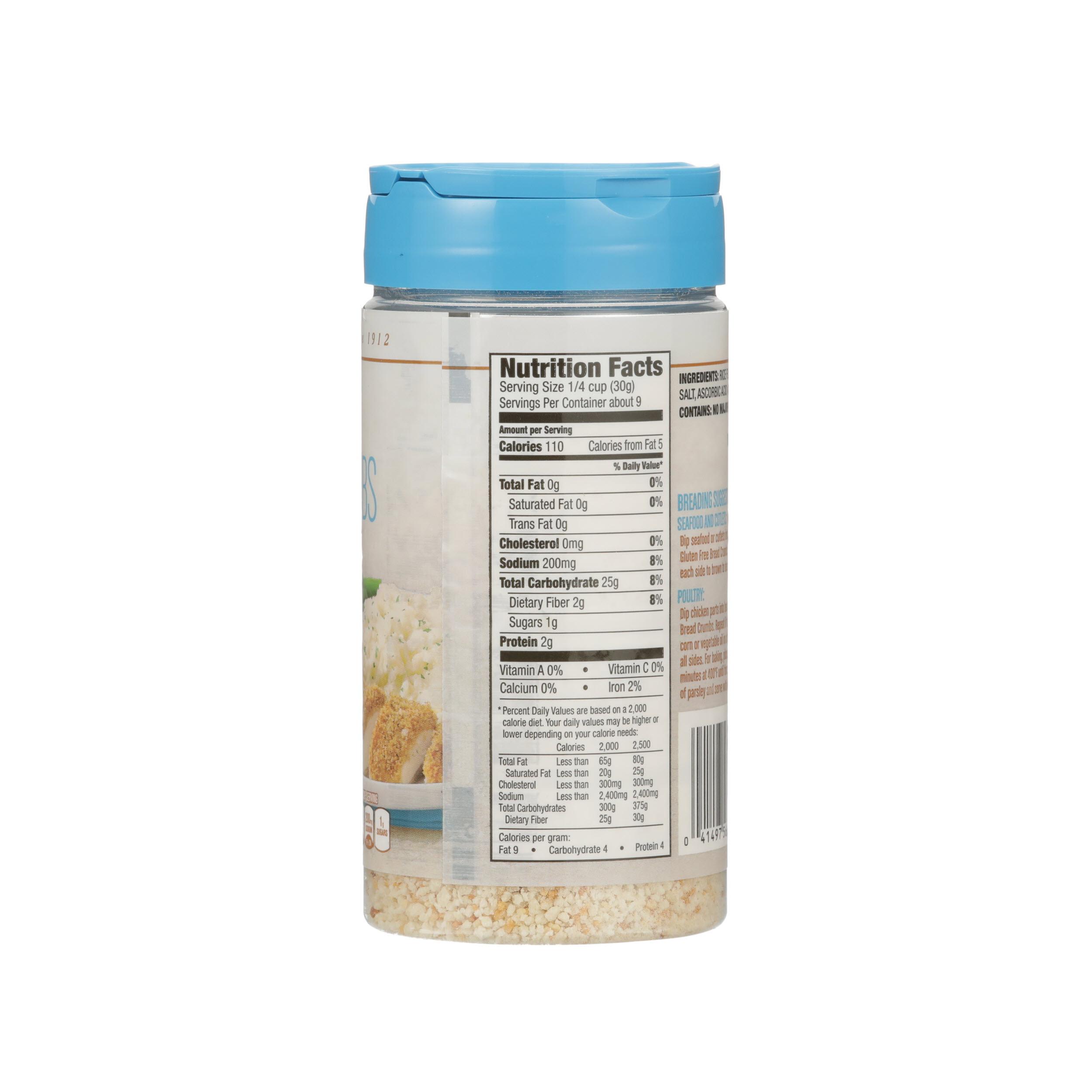 Get Carbs In Gluten Free Bread Crumbs PNG
